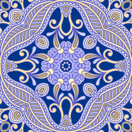 Print design: Vector vintage pattern for design, print, embroidery (you can use this pattern for carpet, shawl, pillow, cushion). Illustration