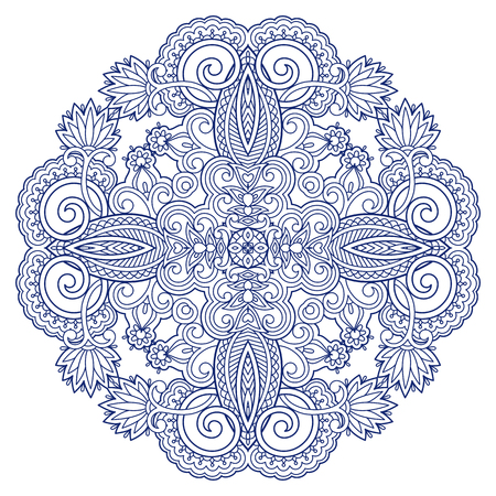 decorative element: Vector vintage floral decorative pattern for design, print, embroidery.
