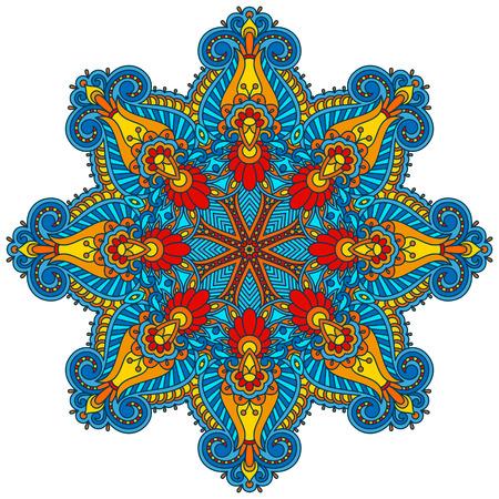 bordados: Vector elemento decorativo floral de la vendimia para el diseño, impresión, bordado.