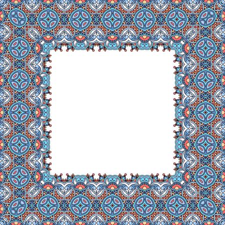 lineas decorativas: patrón de la vendimia del vector para el diseño, impresión, bordado (se puede utilizar este modelo para la alfombra, mantón, almohada, colchón). Vectores