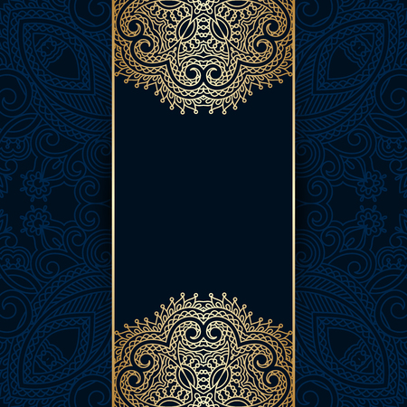 royal background: Vector greeting or invitation card with vintage lace floral pattern.