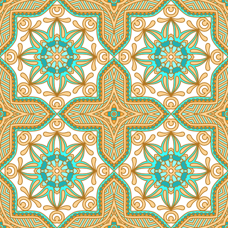 filigree: Vector seamless background with vintage filigree pattern. Illustration