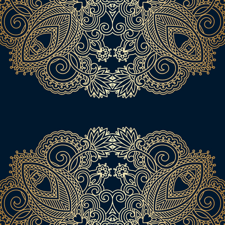 vintage lace: Vector greeting or invitation card with vintage lace floral pattern.