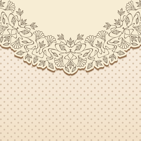 arabesque pattern: Vector art nouveau invitation card with space for text . Illustration