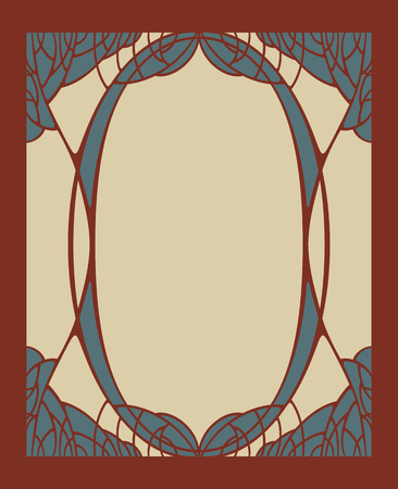 bordo: Vector invitation card with art deco ornament and space for text.