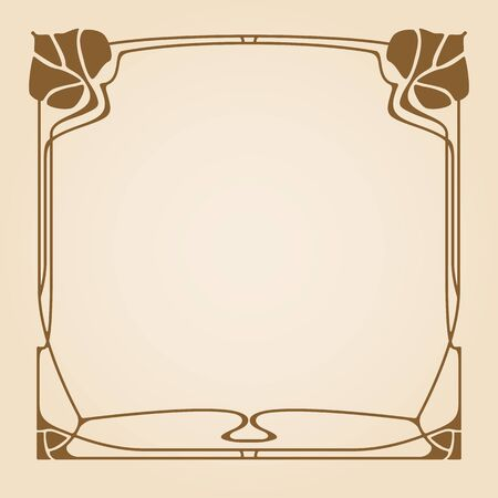 art frame: Vector art deco frame with space for text.