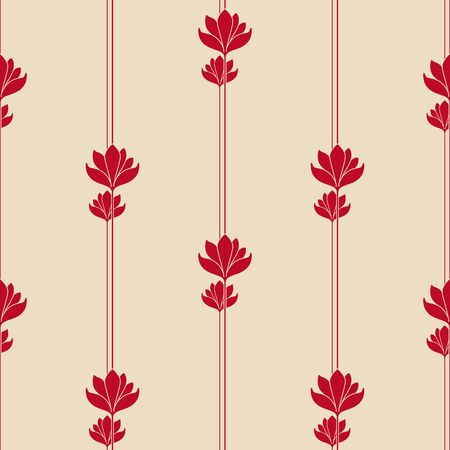 Vector seamless background with vintage art deco pattern for design, print, embroidery.