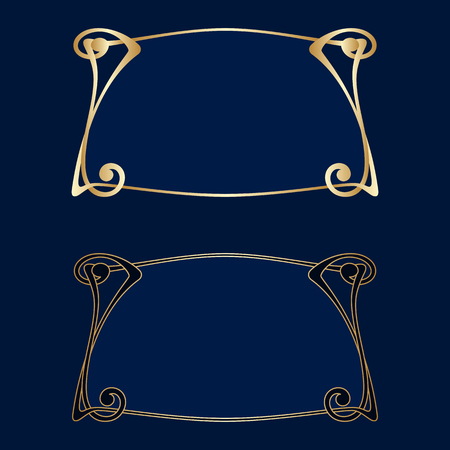 Vector art nouveau frames for print and design.