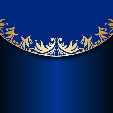 Vector Vintage Floral Decorative Background For Design Invitation