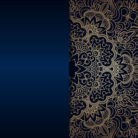 baroque border: Vector vintage floral decorative background for design invitation card, packing, booklet, print.