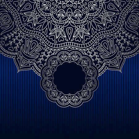 Vector vintage floral decorative background for design invitation card, booklet, print.