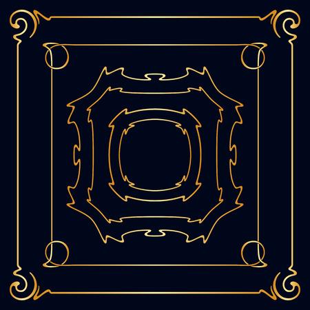 Vector Art Nouveau Vintage Frames For Design Invitation Card ...