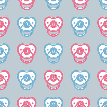 pacifier: Pacifier seamless pattern. Illustration