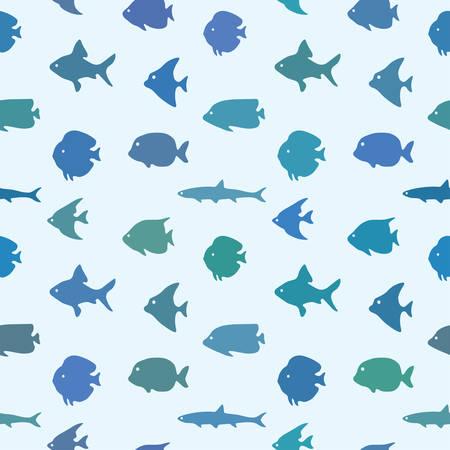 Simple plain style fish seamless pattern. Package design. Stock Illustratie