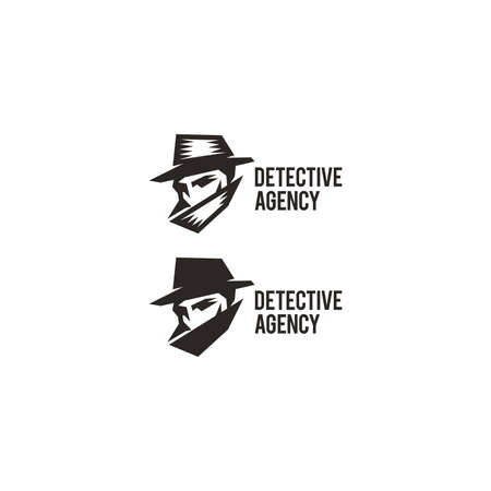 detective agency: Detective agency sign. Vintage label. Private detective logo.