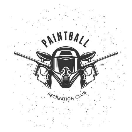 Paintball recreation club emblem