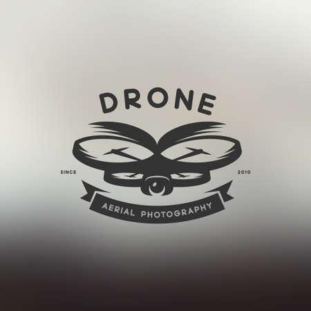 Etiqueta Drone estilo vintage