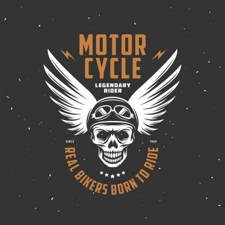 fashion clothes: Vintage motorcycle t-shirt graphics. Vector illustration.