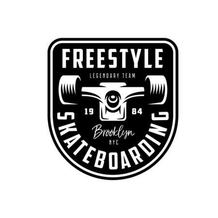 Skateboarding t-shirt design. Vector vintage illustration. Zdjęcie Seryjne - 86133483