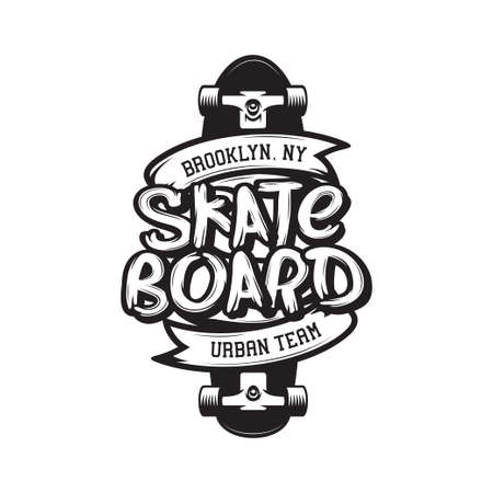 Skateboarding t-shirt design. Urban skating. Skateboard typography. Vector vintage illustration.