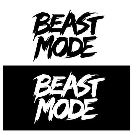 Beast mode hand drawn lettering. Typography t-shirt design. Vector illustration. 스톡 콘텐츠