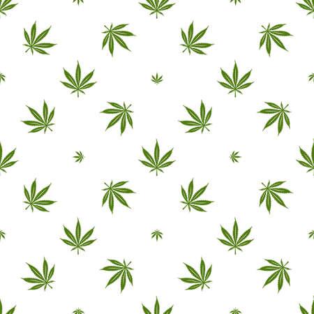 Modèle sans couture de cannabis marijuana. Des éléments décoratifs de style minimaliste pour la conception de vêtements impriment du papier d'emballage. Illustration vectorielle. Vecteurs