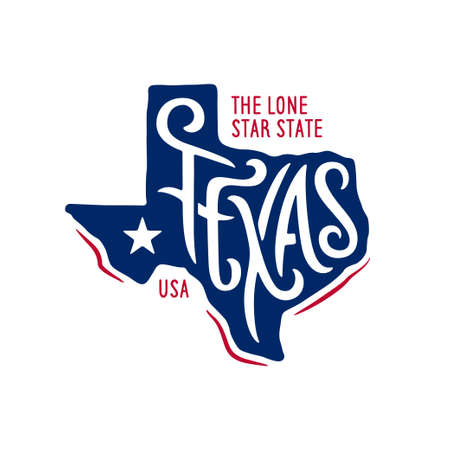Texas related t-shirt design. The lone star state. 免版税图像