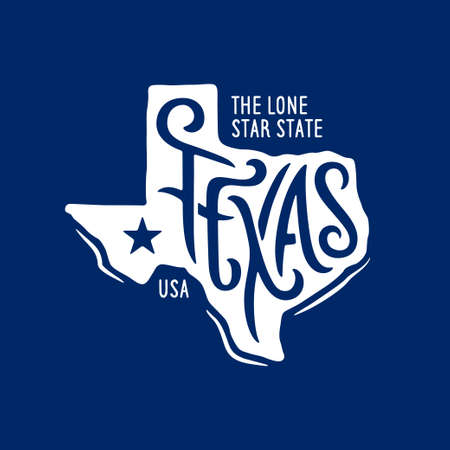 Texas related t-shirt design. The lone star state. Archivio Fotografico