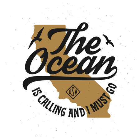 The ocean is calling and I must go tshirt design.