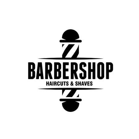 Barber Shop Emblem Abzeichen Logo Zeichen Logo