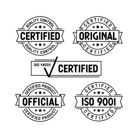 Jeu de timbres certifiés. Vecteurs