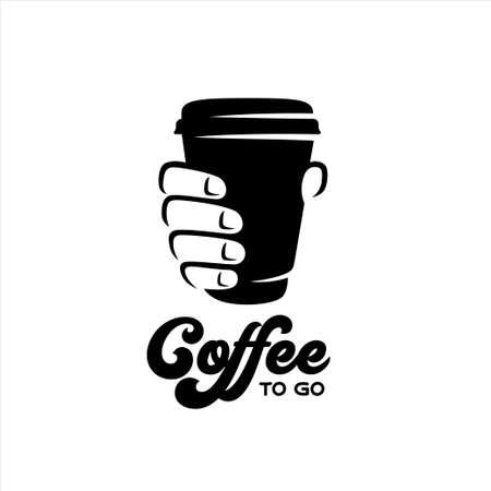Coffee to go advertising sign design. Vector illustration. Vector Illustration