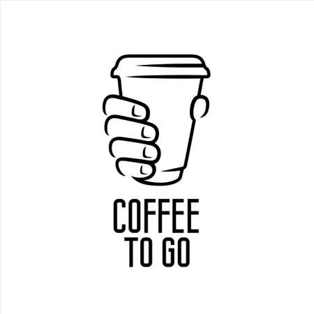 Coffee to go advertising sign design. Vector illustration.