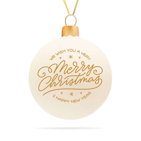 Merry Christmas typography. Vector illustration.