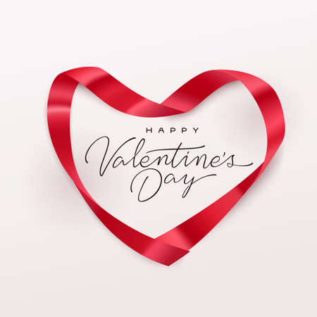 Happy Valentines Day greeting card. Vector illustration.