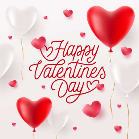 Happy Valentinstag-Grußkarte. Vektor-Illustration.