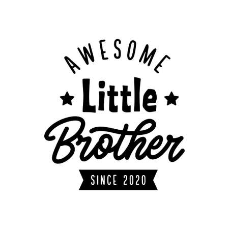 Little brother typography print. Vector vintage illustration. Иллюстрация