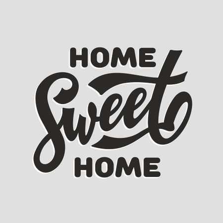 Home Sweet Home modern lettering. Vector illustration.