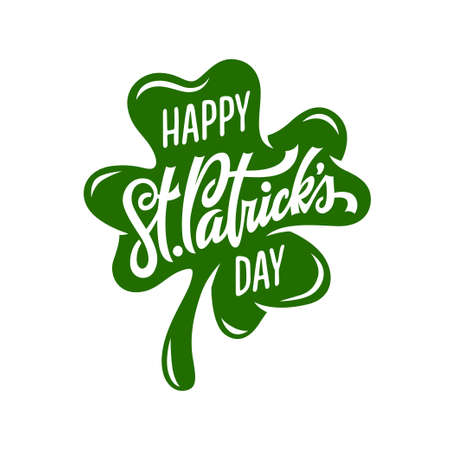 St. Patricks day modern greeting lettering. Vector illustration. Иллюстрация