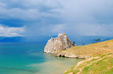 Baikal lake, cape Khoboy. Getting rainy   photo