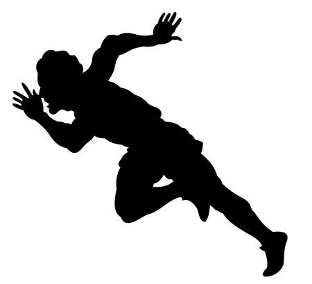 single track: running man Illustration