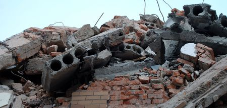destroyed building photo
