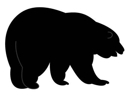 bear silhouette: Bear