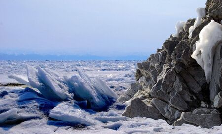 Frozen lake Stock Photo - 4649784