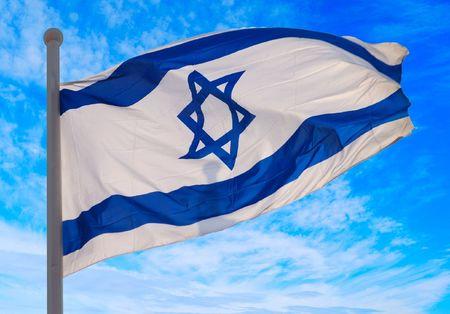 etoile juive: Drapeau d'Isra�l Banque d'images