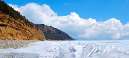Frozen Lake Baikal in winter. Stock Photo - 4756150