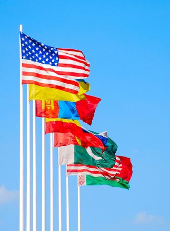 Group of flags  photo