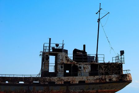 Part of the abandoned old ship photo