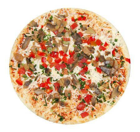 unprepared: Unprepared vegetarian pizza  Stock Photo