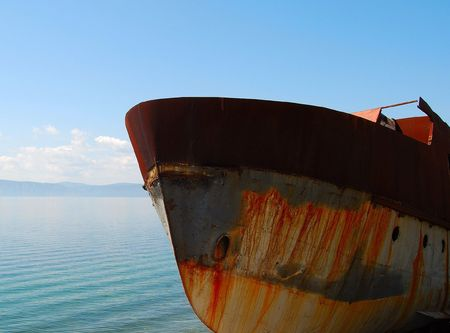 Part of the abandoned old ship.  photo